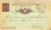 """Postkarte 1879 Filagrano C 7/- Von """"COLLE S. ANNITA"""" Nach Napoli (s021) - 1878-00 Umberto I"""