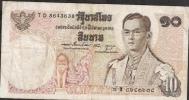 THAILAND  P83 10 BAHT  1969 Signature 48 FINE NO P.h. ! - Thailand