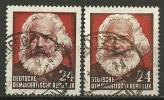 DDR  1953, Nr. 349 I+IIYI, Gestempelt - DDR