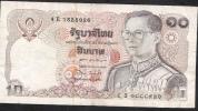 THAILAND  P87 10 BAHT  1980 Signature 60 VF NO  P.h. ! - Thailand