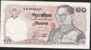 THAILAND  P87 10 BAHT  1980 Signature 57 VF NO  P.h. ! - Thailand