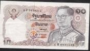 THAILAND  P87b 10 BAHT  1980 #8F   Signature 53  VF NO  P.h. ! - Thailand