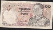 THAILAND  P87 10 BAHT  1980 Signature 57 FINE - Thailand