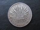 Mexico 8 Reales, 1894 Circulated, Eagle A.M Silver Coin - México