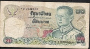 THAILAND  P88i 20  BAHT  1981 #7G   Signature 60  FINE NO P.h. ! - Thailand