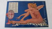 CALENDRIER - JUILLET / AOUT / SEPTEMBRE 1949- L'ETE -PIN UP DE J. DAVID - ISSU DE V MAGAZINE - PLASTIFIE - 1949.