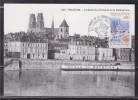 = Congrès Fédération Française Association Philatélique Orléans 2.6.95 CP 1er Jour N°2953 Pont Georges V Et Cathédrale - Gedenkstempel