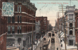 Vintage 1909 – Ottawa Ontario Canada – Spark Street – Animated – Tramway - 2 Scans – Stamp & Postmark - Charlton Co. - Ottawa