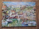 48552 POSTCARD: CORNWALL: Corner Of Newquay Harbour By Herbert Truman. - Newquay
