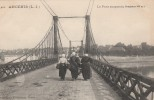 Ancenis - Le Pont Suspendu   ( Belle Animation ) - Scan Recto-verso - Ancenis