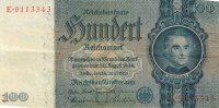 BILLET DE 100 REICHSMARK 24 JUIN 1935 SERIE E - [ 4] 1933-1945: Derde Rijk