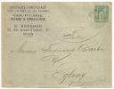 Tarif Facture, 5c SAGE Centrage Parfait, ROUEN Bard CAUCHOISE Sur Enveloppe SAGE. - 1876-1898 Sage (Type II)