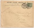 TARIF FACTURE, 5c SAGE PARIS DEPART Sur Enveloppe SAGE. - 1876-1898 Sage (Type II)