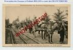 NON SITUEE-EVACUATION Civils Belges-EXIL-Attelage-CARTE Allemande-Guerre 14-18-1 WK-BELGIEN- - Non Classés