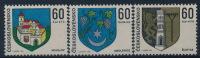 **Czechoslovakia 1973 Mi 2144-46 (3) City Coat Of Arms MNH - Tschechoslowakei/CSSR