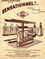 Automobile Station-Service ATI-FRANCE 26 Bd Sébastopol Paris-Pompes,,Compresseur ,Surpresseur,moteur 2 Scans - Advertising