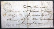 CACHET TYPE 15 + LIGNE DU HAVRE  --  VERNON  --  EURE  --  LAC  --  1847 - Marcophilie (Lettres)
