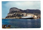 Gibraltar Carte RARE Cachet Tampon Paquebot Posté à Bord 1968 Mons Calpe + 2 Timbres Dont Timbre Du Bateau Mons Calpe - Steamers