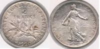 FRANCIA FRANCE 2 FRANCS 1920 PLATA SILVER V - Francia