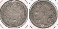FRANCIA FRANCE 5 FRANCS 1849 A PLATA SILVER  V - Francia