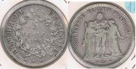 FRANCIA FRANCE 5 FRANCS 1873 A PLATA SILVER V - J. 5 Francos