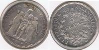 FRANCIA FRANCE 5 FRANCS 1873 A PLATA SILVER V2 - J. 5 Francos