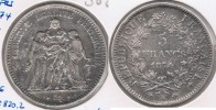 FRANCIA FRANCE 5 FRANCS 1874 K PLATA SILVER V - Francia