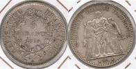 FRANCIA FRANCE 5 FRANCS 1875 A PLATA SILVER V - J. 5 Francos