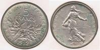 FRANCIA FRANCE 5 FRANCS 1962 PLATA SILVER V - J. 5 Francos