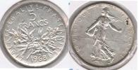 FRANCIA FRANCE 5 FRANCS 1968 PLATA SILVER V - J. 5 Francos