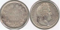 FRANCIA FRANCE 5 FRANCS LOUIS PHILIPPE 1832 A PLATA SILVER  V - J. 5 Francos