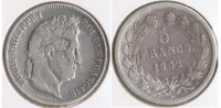 FRANCIA FRANCE 5 FRANCS LOUIS PHILIPPE 1832 BB PLATA SILVER  V - J. 5 Francos