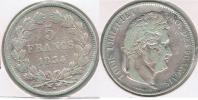 FRANCIA FRANCE 5 FRANCS LOUIS PHILIPPE 1834 W PLATA SILVER  V - J. 5 Francos