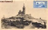 MARSEILLE CARTE MAXIMUM NOTRE-DAME-DE-LA-GARDE TIMBRE VIGNETTE + FLAMME FOIRE - Notre-Dame De La Garde, Lift En De Heilige Maagd