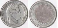FRANCIA FRANCE 5 FRANCS LOUIS PHILIPPE 1840 A PLATA SILVER  V - Francia