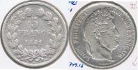 FRANCIA FRANCE 5 FRANCS LOUIS PHILIPPE 1841 W PLATA SILVER  V - J. 5 Francos