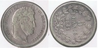 FRANCIA FRANCE 5 FRANCS LOUIS PHILIPPE 1841 W PLATA SILVER  V2 - J. 5 Francos