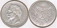 FRANCIA FRANCE 5 FRANCS NAPOLEON III 1867 A PLATA SILVER V2 - Francia