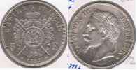 FRANCIA FRANCE 5 FRANCS NAPOLEON III 1867 BB PLATA SILVER V - Francia