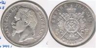 FRANCIA FRANCE 5 FRANCS NAPOLEON III 1868 A PLATA SILVER V2 - J. 5 Francos