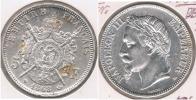 FRANCIA FRANCE 5 FRANCS NAPOLEON III 1868 A PLATA SILVER V3 BONITA - Francia