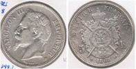 FRANCIA FRANCE 5 FRANCS NAPOLEON III 1868 BB PLATA SILVER V - Francia
