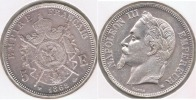 FRANCIA FRANCE 5 FRANCS NAPOLEON III 1868 BB PLATA SILVER V2 - J. 5 Francos