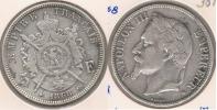 FRANCIA FRANCE 5 FRANCS NAPOLEON III 1868 BB PLATA SILVER V3 - J. 5 Francos