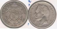 FRANCIA FRANCE 5 FRANCS NAPOLEON III 1869 BB PLATA SILVER V - J. 5 Francos