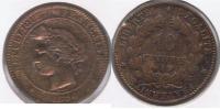 FRANCIA FRANCE 10 CENTIMES FRANC 1896 A  V - Francia