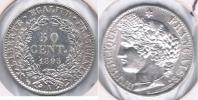 FRANCIA FRANCE 50 CENTIMES FRANC 1895 A PLATA SILVER V BONITA - France