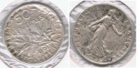 FRANCIA FRANCE 50 CENTIMES FRANC 1907 PLATA SILVER V - Francia