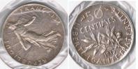 FRANCIA FRANCE 50 CENTIMES FRANC 1913 PLATA SILVER V - Francia