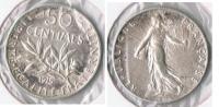 FRANCIA FRANCE 50 CENTIMES FRANC 1915 PLATA SILVER V - Francia